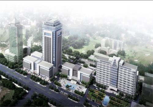 鄂州中心医院体检中心鸟瞰图