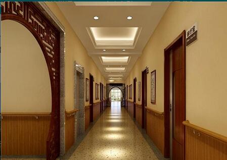 旅大市岭前医院体检中心走廊